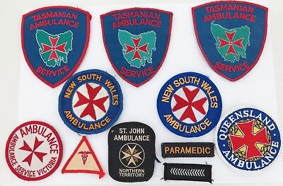 Excellent Lot Obsolete Australian Ambulance Patches, Various States.