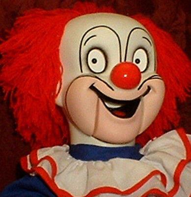 "HAUNTED  Ventriloquist Doll ""EYES FOLLOW YOU"" Creepy Clown Dummy Puppet  prop"