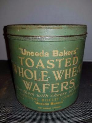 Vintage Nabisco Uneeda  Bakers Toasted Wheat Wafer Can Usa