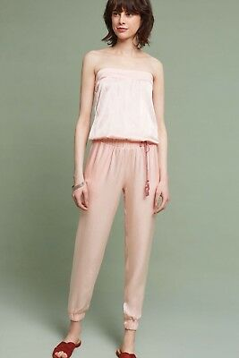 068f6139afae NEW ANTHROPOLOGIE SHIMMERED Strapless Jumpsuit Size Small Pink ...