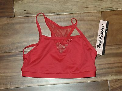 NWT Girls Body Wrappers Red Dancewear Dance Top Size L 8 10 $27
