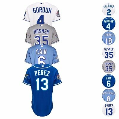 MLB 2015 Kansas City Royals Authentic Player World Series Jersey Collection Men