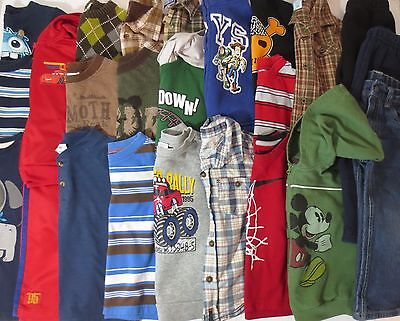 LOT Toddler Boys Size 3T Fall Winter Clothes Outfits Shirts