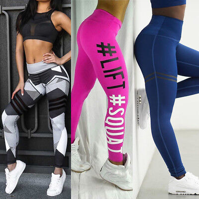 Women Yoga Set Running Bra & Pants Gym Workout Fitness Clothes Tights Sport Wear