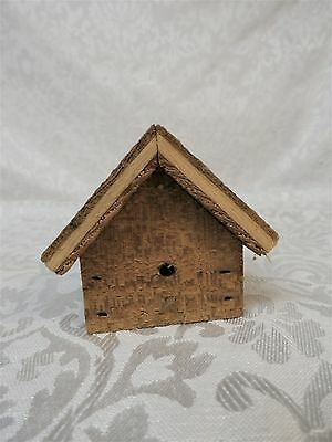 "Small Wooden Bird House 2 1/2"" Tall"