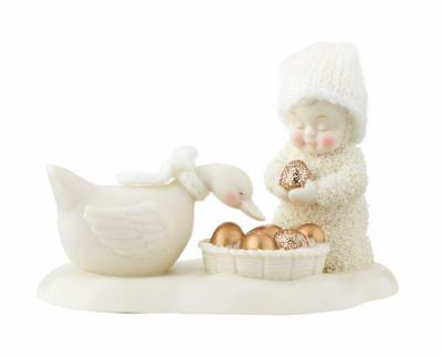 Snowbabies Geese a Laying Porcelain Christmas Figurine 4048623 New 12 Days Xmas