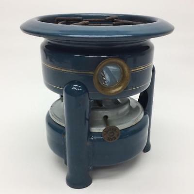 Edy Dieren Camp Stove Blue Enamelware Dutch Kerosene Petrol Single Wick Tabletop