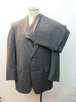 Hart Schaffner Marx Gold Trumpeter Nordstrom Gray Plaid Two Button Suit 41R