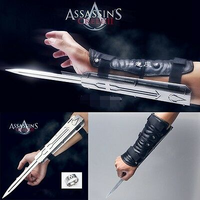 NEW HOT Assassin's Creed Hidden Blade Cosplay Stainless Steel Catapult Launch