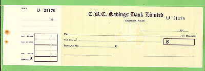 Commercial Banking Company  Check / Cheque U21176, Gosford Nsw