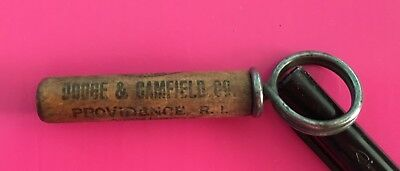 Vintage Cork Screw Advertising Dodge & Camfield Co Providence R.I. When In Need