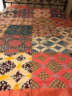 old  cotton quilt top
