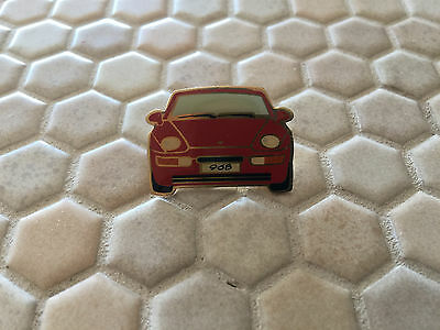 PORSCHE 968 RED COUPE or CABRIOLET OFFICIAL LAPEL PIN 1992-95