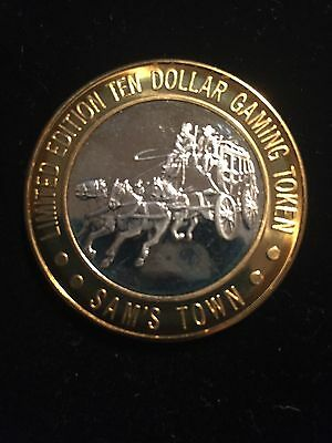 Sam's Town Stagecoach Las Vegas Nevada .999 Silver Center 1 3/4 In Limited Token