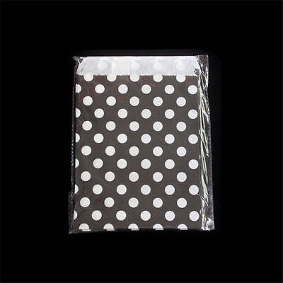 25 pcs Foil Gold Polka Dot Wedding Birthday Sweet Favor Gift Paper Party Bags