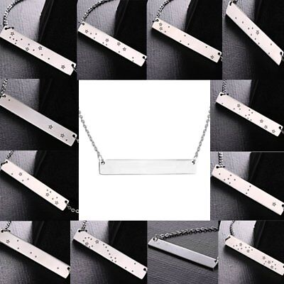 Chic Stainless Steel Bar Star Sign Constellation Pendant Necklace New Year Gift