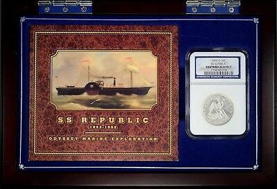 1858-O SEATED HALF SS REPUBLIC 50c  *  NGC  Shipwreck Effect  *  #1794142-014