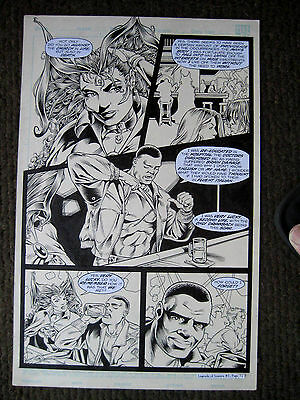 Legend of Luxura #1 page 32 Original Art Vamperotica Faust