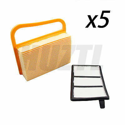 5 Pack Air Filter Cleaner Kit For Stihl TS410 TS420 TS480 TS500 # 4238 140 1800
