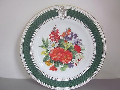 ROYAL CROWN DERBY Royal Birthday Bouquet Queen Elizabeth QUEEN MOTHER PLATE