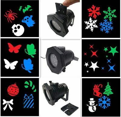 LED 12 Patterns Outdoor Lawn Lamp Waterproof Landscape Stage Light Party Xmas HT