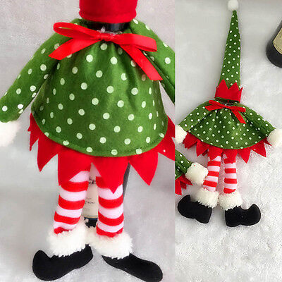 Polka Dot Wine Bottle Cover Bags Hat Set Christmas Decal Decoration Xmas Gifts