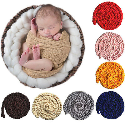 Soft Newborn Baby Photography Photo Prop Infant Backdrop Knit Throw Blanket Rug
