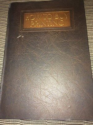 How To Buy Printing Charles Francis Press Vintage Book 1922