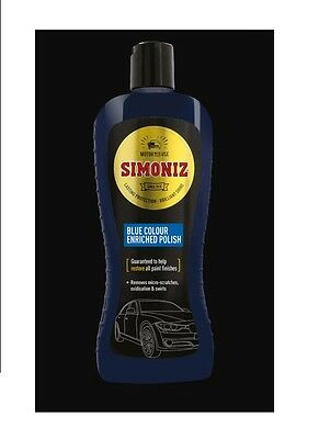 Simoniz Blue Colour Enriched Car Motor Wax Polish Helps Restore Paitwork 500ML