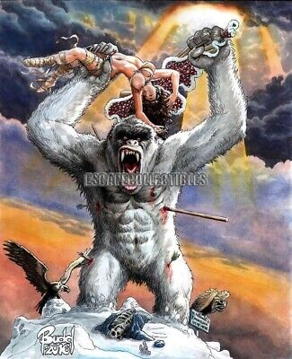 Cavewoman Freakin' Yetis Cover E Signed Print by Budd Root