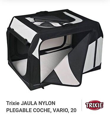 Trixie Vario Dog Transport Box Travel Crate Car Kennel Fold-Down Carrier Pet EUC