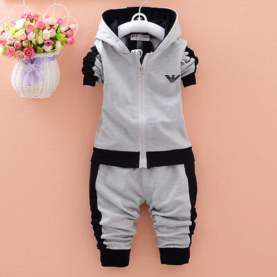 2pcs Tracksuit Sweater Boys Clothing Outfits Set Shirt Pant long Sleeve 80-110cm
