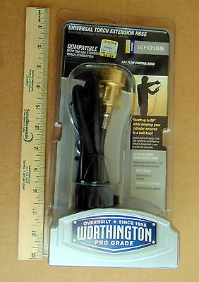 Worthington Propane / Mapp Pro 5 Foot Torch Extension Hose Kit W/ Hook  Wh0159