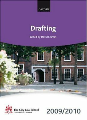 Drafting 2009-2010: 2009 Edition (Bar Manua... by , The City Law Schoo Paperback