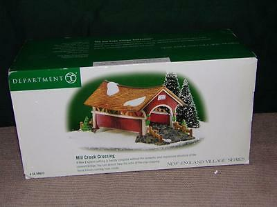Department 56 Mill Creek Crossing Covered Bridge-Retired-MIB