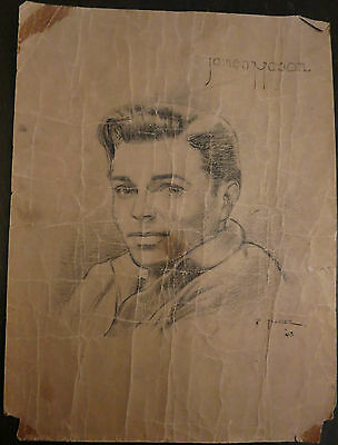 James Mason Film Star Signed Original Drawing Peter Trayler 1943