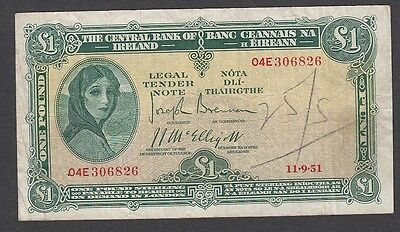 1 Pound From Ireland A1 Payable in London 11.9.1951