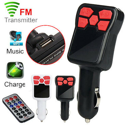 Wireless MP3 Player FM Transmitter Modulator Car Kit USB Charger SD w/ Remote UK