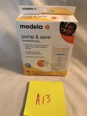 Medela Pump and Save Breastmilk Bags 20 Count New! FREE SHIPPING! A13