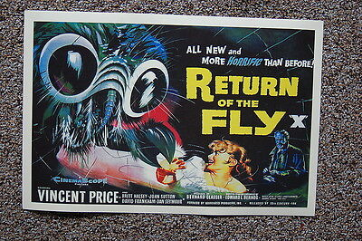 Return of the Fly X Lobby Card Movie Poster Vincent Price