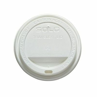 100 x Solo White Hot Cup Lids Traveler Disposable To Fit 12oz / 16oz Cups T316R