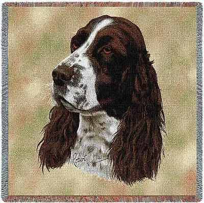 Lap Square Blanket - English Springer Spaniel by Robert May 1134