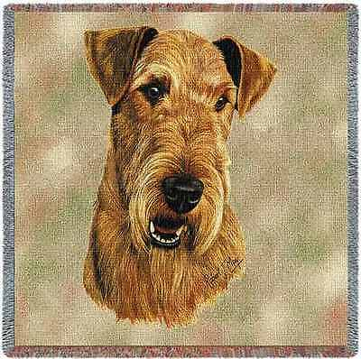 Lap Square Blanket - Airedale Terrier by Robert May 1177