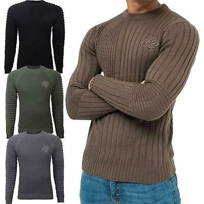 US Polo Assn Mens Long Sleeve Crew Neck Sweater Jumper Sweatshirt Plain Top Sxxl