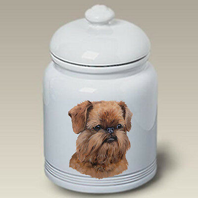 Ceramic Treat Cookie Jar - Uncropped Brussels Griffon (LP) 45194