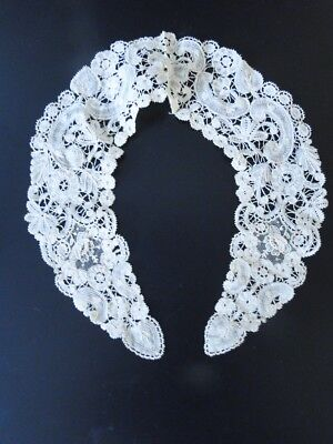 Antique Lace-Brussels Lace Collar W/point De Gaze
