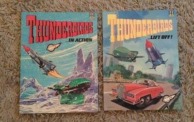 Thunderbirds 'In Action' And 'Lift Off' Comic Albums 1992