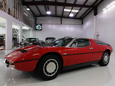 1974 Maserati Other Bora 4.9 Coupe | Only 36,621 actual miles 1974 Maserati Bora 4.9Coupe | Matching numbers | Full Maserati Documentation