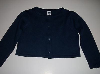 Janie and Jack Girls 18 - 24 Month Navy Blue Bow Long Sleeve Sweater