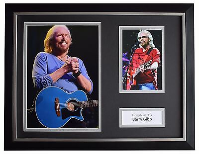 Barry Gibb Signed FRAMED Photo Autograph 16x12 display Bee Gees Music AFTAL COA